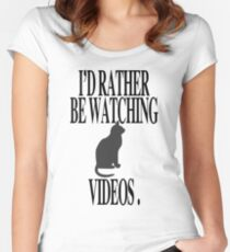 CAT VIDEOS Women's Fitted Scoop T-Shirt