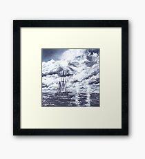 sail boat oil painting art print Framed Print