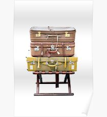 Old Suitcases Travel Poster
