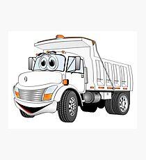 White Cartoon Dump Truck Photographic Print