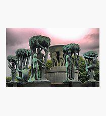 Around the Fountain by Gustav Vigeland  (6) Photographic Print