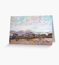 Strathbogie Summer Landscape  Greeting Card