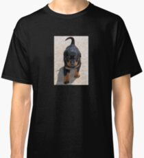 Cute Rottweiler Puppy Walking Towards The Camera Classic T-Shirt