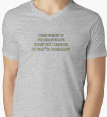 procrastinate irony Men's V-Neck T-Shirt