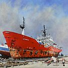Dry Dock: Punta Arenas. by David McEwen