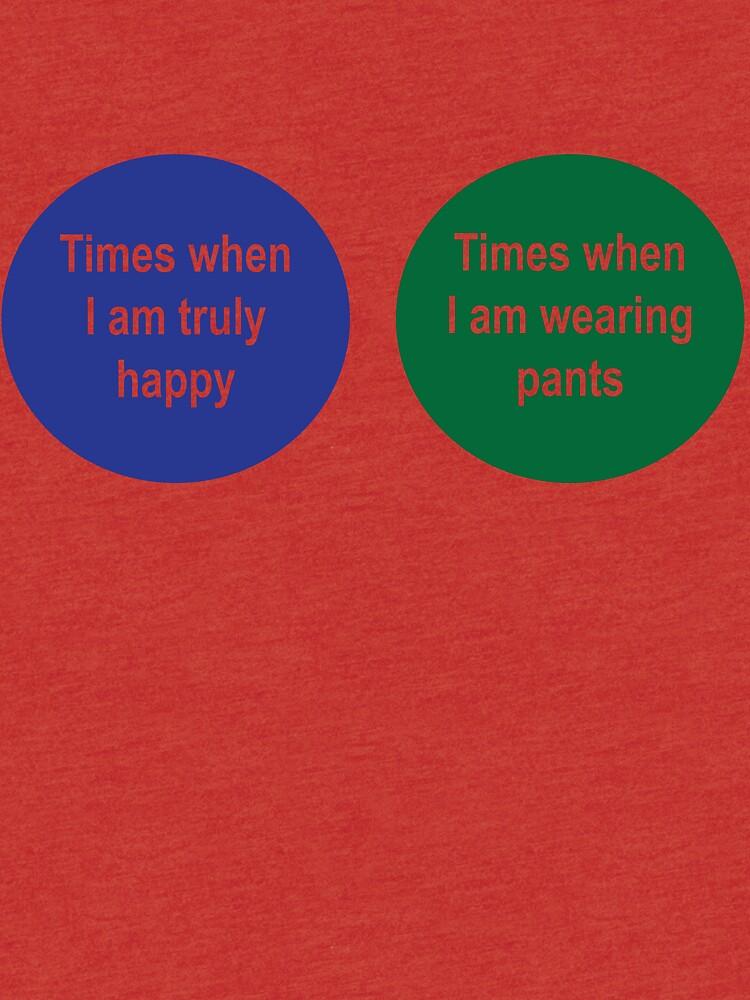 Times When Im Happy Times When Im Not Wearing Pants Venn Diagram