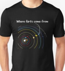 Where farts come from Unisex T-Shirt