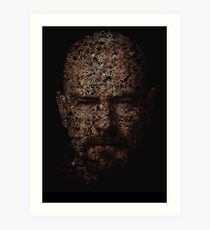Walter White, Typographic Man of Chemistry Art Print