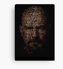 Walter White, Typographic Man of Chemistry Canvas Print