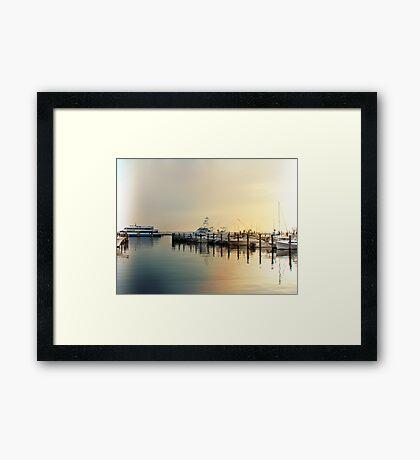 Sunrise In The Harbor - Atlantic Highlands - NJ Framed Print