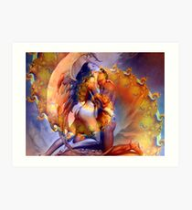 Twin Flame Love Art Print