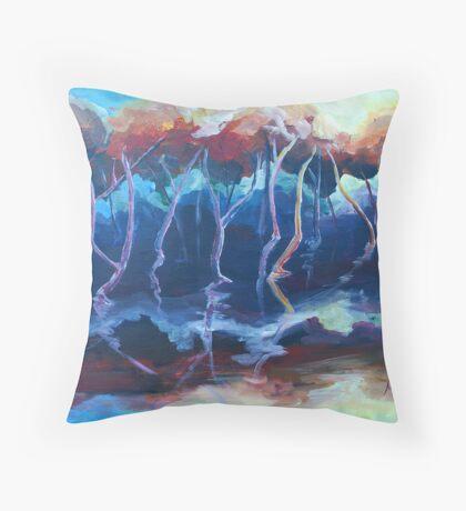 Sunset mangroves Throw Pillow