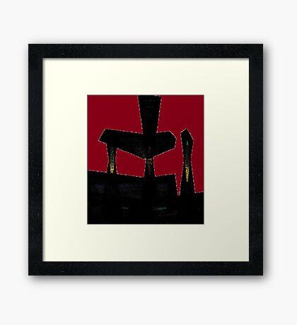 The Broken Chair Framed Print