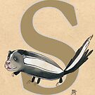 S is for SKUNK by busymockingbird