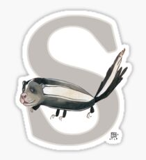 S is for SKUNK Sticker