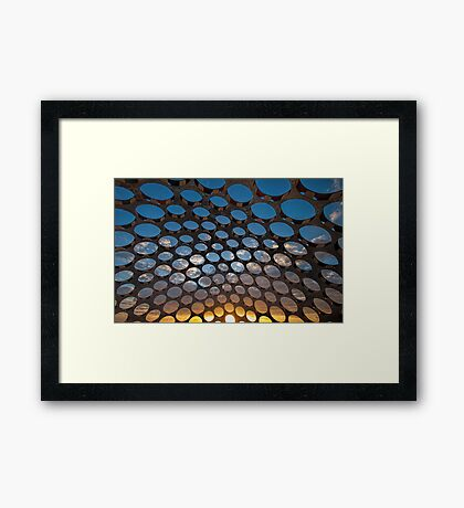 Through the Bubbles Framed Print