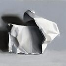 Crumpled Paper Sculpture by ria hills