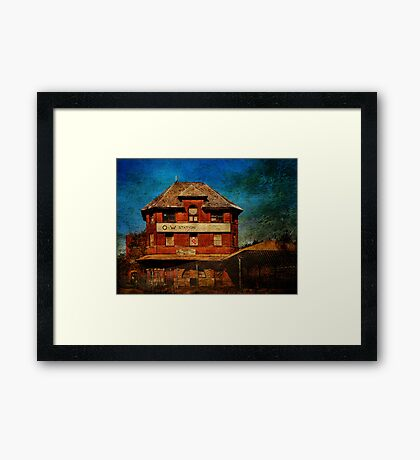 Ruins of the O&W Railroad Station Framed Print