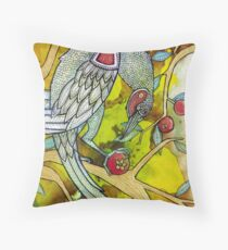 The Berry Thief Throw Pillow