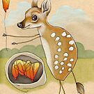 Camping Deer by busymockingbird
