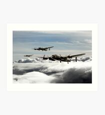 Lancaster Squadron Art Print