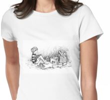 Deep in the 221 Acre Wood Womens Fitted T-Shirt