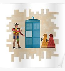 ancient doctors & daleks, oh my! Poster