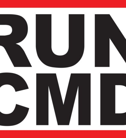 Run Command Black Text Sticker