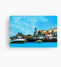 Swanage Sea View Canvas Print