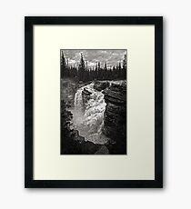 Waterfall in Jasper National Park Framed Print