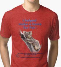 Make a Home for Pat - light background Tri-blend T-Shirt