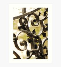 Grave Yard Gate Art Print