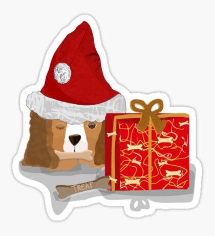 Puppy Christmas  Sticker