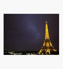 Effel tower lightening Photographic Print