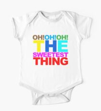 The sweetest thing  Short Sleeve Baby One-Piece