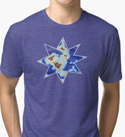 Star world map Tri-blend T-Shirt