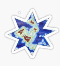 Star world map Sticker