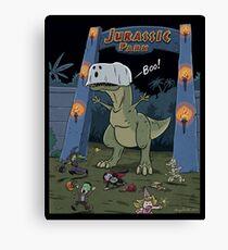 Jurassic Park Halloween Canvas Print