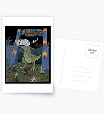 Jurassic Park Halloween Postcards