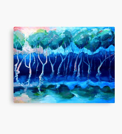 Daytime mangroves Canvas Print