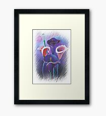 Purple Callas With Fringed Edge Border Framed Print