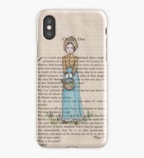 Pride and Prejudice chapter one. Elizabeth Bennet iPhone Case/Skin