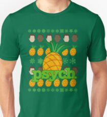 Psych TV Show Shawn Gus Pineapple Holiday Theme T-Shirt