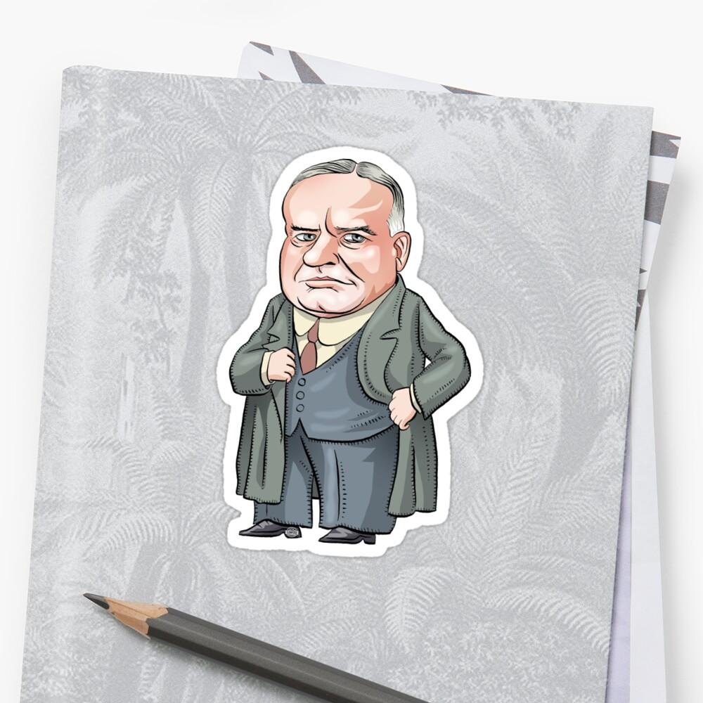President Herbert Hoover by MacKaycartoons