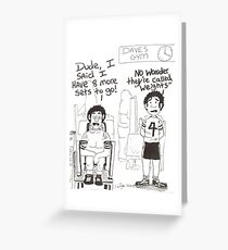 The Gym Greeting Card