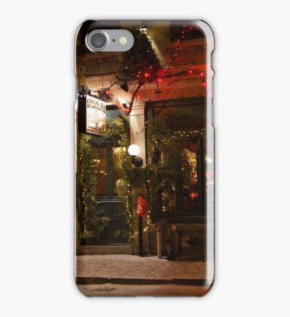 ...round Christmas  in Montreal... see large !  iPhone Case/Skin