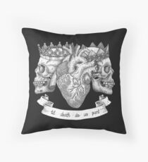 'Til Death Do Us Part, Life and Death Illustration Throw Pillow
