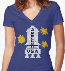 DANNY'S SWEATER Women's Fitted V-Neck T-Shirt