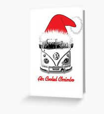 VW Camper Air Cooled Christmas Greeting Card