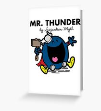 Mr Thunder Greeting Card